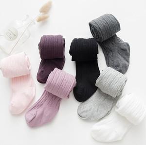 Polainas del bebé Pantyhose sólido medias del estiramiento Pantalones para niños princesa de baile Calcetines Pantalones de moda las niñas Medias Niños Ropa OWC3623