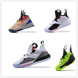 Erkek Jumpman XXXIII 33 Çimento Basketbol Ayakkabıları 33s Çok Renkli Teknoloji Paketi CNY Spor Eğitmenler Sneakers