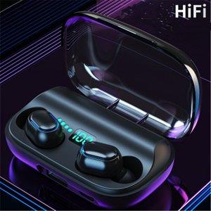 T11 TWS 무선 헤드폰 블루투스 5.0 이어폰 3300mAh 충전 빈 스테레오 이어폰 IPX7 스포츠 방수 헤드셋 전화 DHL
