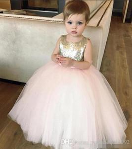 Lace Paillette Dress 2018 New Children Fashion Princess Party Rainbow Colors Bowknot Sleeveless Tutu Evening Dress Skirt