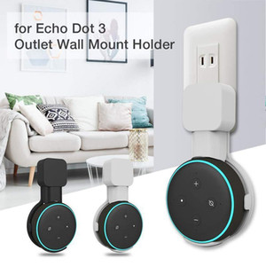 Outlet Wall Mount Holder For Amazon Echo Dot 3 Space -Saving Hanger Stand For Smart Home Speakers With Cord Arrangement For Google Home Mini