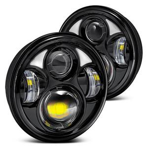 새로운 오토바이 자동차 라이트를위한 5.75 인치 LED 프로젝터 헤드 라이트 헤드 램프 전구 40W 라운드 LED 헤드 라이트를 오는