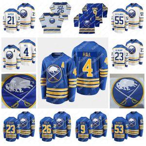 4 Тайлор Холл (а) Buffalo Sabers 2021 Royal Jersey 9 Jack Eichel (C) Расмус Далин Кайл Оксопо Джефф Скиннер Сэм Рейнхарт Эрик Стаал Монтур