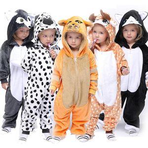Children's unicorn children's pajamas animal cartoon blanket sleeper baby clothing winter boys and girls jumpsuit Designer