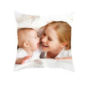 Fuwatacchi New Custom Cushion Cover Personal Photo Pillow Covers Wedding Pet Photos Customize Gift Throw Pillowcase Home