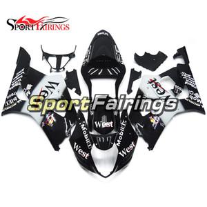 Sportbike carénages pour Suzuki GSX-R1000 K3 2003 2004 GSXR1000 03 04 Kit Bodywrk complet avec siège COWL Blanc noir