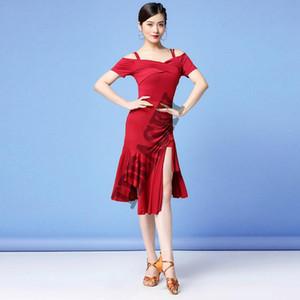 New 2020 Latin Dance Dress Women adult Lady Sexy Fringe Salsa Ballroom Tango Cha Cha Rumba Samba Dresses top skirts For Dancing