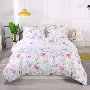 LOVINSUNSHINE Simple Flower Printed Bedding Set Home Textile Queen King Size Duvet Cover For Girl Cute Comfor Bed Set
