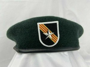 Beretler Vietnam Savaşı ABD Ordusu 5. Özel Kuvvetler Grup Yeşil Bere 1star Tuğla Genel Kapağı