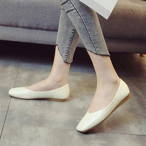 MAIERNISI Women Shoes Female Flat Shoes Casual Work Ballet Flat Women Large Size 33-43 Ladies