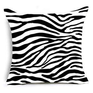 Einzelseitige Druck Tier Leopard Dekorative Kissen Fall Super Weiche Samt Schwarzweiß-Zebra Muster Kissenbezug Sofa EEF4875