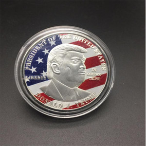 New York presidential commemorative coin gold coin coin flag 3D color jet painting