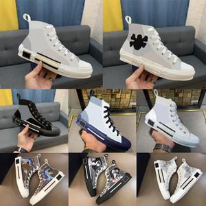 2021 Designer Sneakers schräg Technisches Leder High Low B23 B22 B24 Blumen Plattform im Freien Freizeitschuhe Vintage mit Box