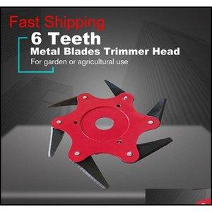 Tondeuse à gazon de jardin Blade Manganèse Steel Steel Trimmer Brosse Cutter Tête 6 Tooth Brush Cuttercutter Pour lawn Qylgwa BDE_LUCK