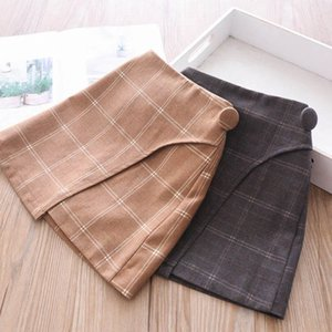 New arrived 2color girls skirts autumn winter 2020 new kids skirts fashion princess pencil skirts Boutique girls clothes 2-7Y B2228