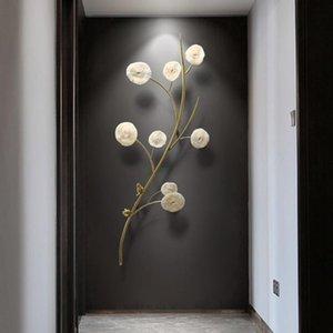 Neue chinesische Art Wanddekoration Hängen Licht Luxus reines Kupfer Korallenraum Dekoration Zubehör