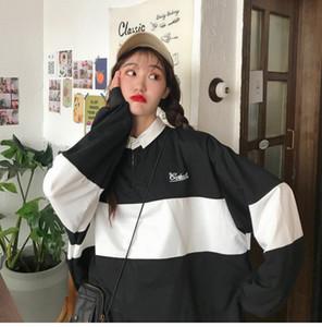 2020 Fashion Hoodies Women Winter Leisure Polo Collar Womens Pullover kpop Letters Long Sleeve hoodie Sweatshirts