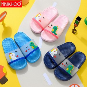 2020 New Children Slipper Boy Girl Beach Transparent Dinosaur Shoes Unicorn Slippers Niños Lindo Caballo Verano Casa Zapatillas 38JA #