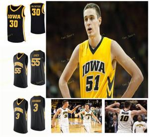 Iowa Hawkeyes baloncesto de la universidad de New 4 Bakari Evelyn 5 CJ Fredrick 51 Aidan Vanderloo 55 Luka Garza Hombres Mujeres Jóvenes cosido personalizada