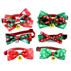 Pet Ошейников Dog Cat бабочки Рождество Собака Персонализированные Подвески регулируемого шейный ремень украшение праздник Принадлежность Принадлежность LSK1463