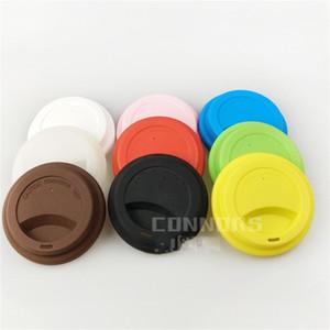 Silicona tapa tapa formas redondas tazas de café cubiertas anti-polvo Embarcación tapa de accesorio de barra 9cm 1 2kn E1