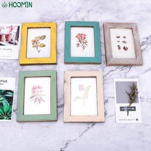 5 لون الإبداعية هدية خشبية الزفاف زوجين صور إطارات خمر صور إطار ديكور المنزل