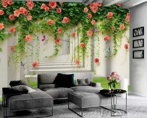 Custom Flower 3d Wallpaper Extended Space Romantic Flower 3d Wallpaper Premium Atmospheric Interior Decoration Wallpaper