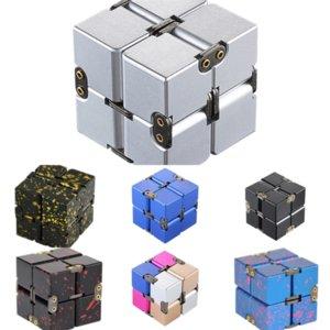 F7JK3 Aggiornato la versione Novità originale in metallo Hot Infinite Decompressione Cube Giiker Puzzle Gear Gear in lega di alluminio Rubik Cubo Rubik's Cube