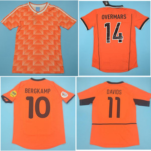 TOP 1988 1997 1998 Paesi Bassi Retro Soccer Jerseys 2000 2002 Holland van Basten Camicia da calcio Gullit Jersey Bergkamp Maillot deley