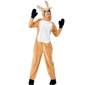 Costume Accessories Adult Women Santa Claus Elk Christmas Year XMAS Brown Jumpsuit Fancy Dress