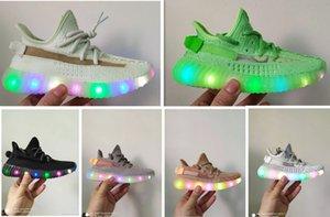 ssYEzZYYEzZYs v2 350calzado infantil impulso V2 luz LED luminoso niños corriendo hacia arriba Kanye West estático arcilla hiperespacio muchachos del niño G