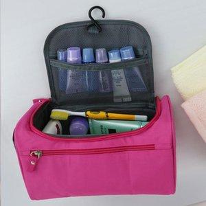 للجنسين السفر المحمولة حقيبة غسل في أكسفورد القماش دائم أكياس التجميل الملابس أشتات حقيبة التخزين الأزياء المكياج أكياس DBC DH1101