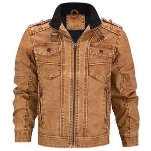 AIRGRACIAS Mens réel Veste en cuir hommes manteau moto hommes hiver chaud Vestes en cuir véritable