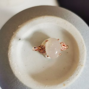 Small leaf jade egg surface ring