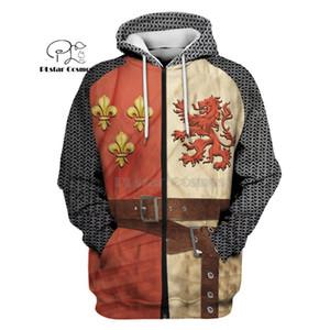 PLstar Cosmos All Over Printed Knights Templar 3d hoodies Sweatshirt Winter autumn funny Harajuku Long sleeve streetwear 200930