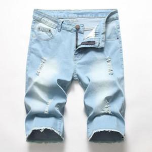 Men fashion brand quality men ripped denim shorts jeans shorts pants