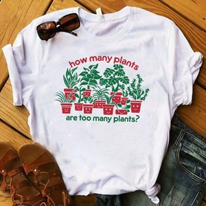Womens Graphic How Many Plants Lady Garden Top Flower Cute Sweet Plants T Tee Shirt Ladies Tshirt Female Clothes T shirt