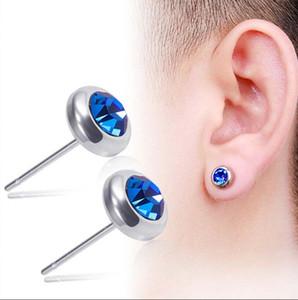 stainless steel diamond earrings women earrings mens earings stud ear rings jewelry will and sandy gift 1844