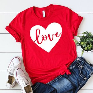 Hot Sale New Design LOVE Printed 100% Cotton Pattern Custom Ladies T-shirt Fashion Casual Short Sleeves In 2021