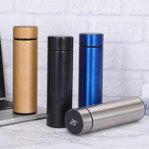 Stainless steel Thermos Water Bottle with Temperature Display SS304 Double Wall Vacuum Flasks Insulation Cups Business Promotion Gift