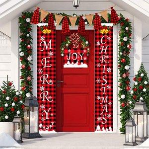 novos produtos decorativos de Haube bandeira vermelha e verificação preta doorhanging atmosfera de festa novos produtos decorativos de Haube vermelho e cu verificação preta