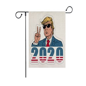 New Trump Garden Flags 47*32CM President General Election Banner 2020 Trump Flag Polyester Cloth Pennant Banner Flags Free DHL DHF2648