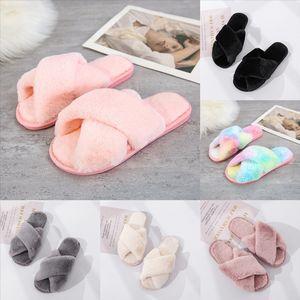 ntqfv luxury design rabbit slipper women men lover Beach slippers sandal Cross ladies Bom Dia Flat buckles summer gold-tone Mule plush