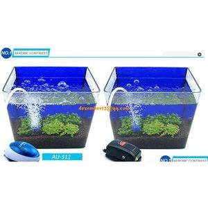 Alta calidad 2W 5W Ultra Silent Aquarium Bomba de aire Tanque Air Oxygen Aera Qylfst Sports2010