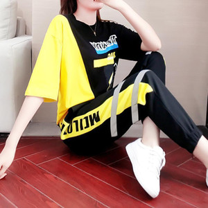 2 Piece Sets Summer Clothes For Women Tracksuit Womens Outfits Fashion Streetwear Shirt Lounge Wear Sweatsuit T200623