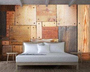 3D Wallpaper Bildertapete Wood Block Brett Kombination Textur Tapete Wohnkultur Wohnzimmer Schlafzimmer Wandbespannung HD Wallpaper