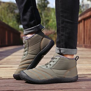 UncleJerry New Winter Boots for Men and Women Warm Shoes Waterproof Non-slip Snow Boots 201126