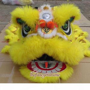 SMART желтый дети новый танец льва талисман костюм театр на открытом воздухе рождественские дни Чистошерстяная размер Southern Lion Взрослый Китайский народный костюм
