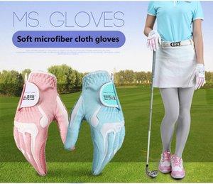GOLF GLOVES women men Glove Micro Fiber Soft one Paire Anti-skidding Non slip particles Breathable Golf Glove