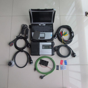 MB SD Connect C5 MB Star C5 with Laptop CF19 Toughbook installed well with Software V2020.09 360gb ssd super speed for sd